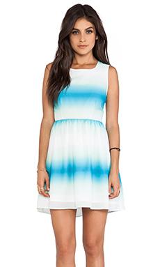 Jack by BB Dakota Celerina Horizon Printed Tank Dress in Menthly Blue