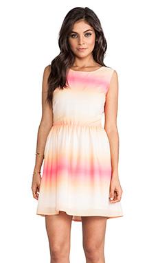 Jack by BB Dakota Celerina Horizon Printed Dress in Peach Blush