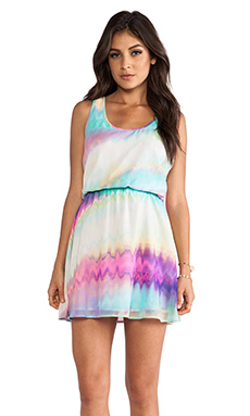 Jack by BB Dakota Joann Oil Spill Dress in Multi