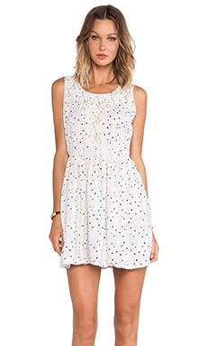 Jack by BB Dakota Lea Blossom Mini Dress in Whitecap Beige