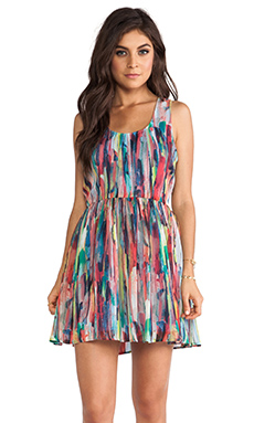 Jack by BB Dakota Kenza Cascade Mini Dress in Multi