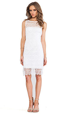 BB Dakota Tisa Crochet Lace Dress in Optic White