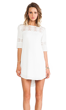 BB Dakota Devera Lace Insert Dress in Ivory