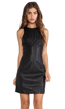 BB Dakota Miranda Faux Leather Dress in Black