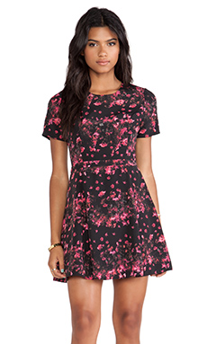 Jack by BB Dakota Hanna Printed Dress in Black