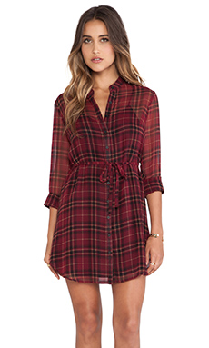 Jack by BB Dakota Abrie Plaid Dress in Beet Red