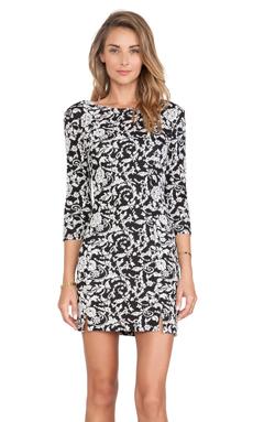 Jack by BB Dakota Melina Floral Dress in Black & White