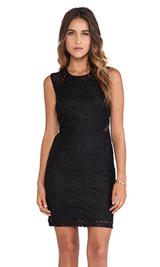 Jack by BB Dakota Alexena Lace Bodycon Dress in Black