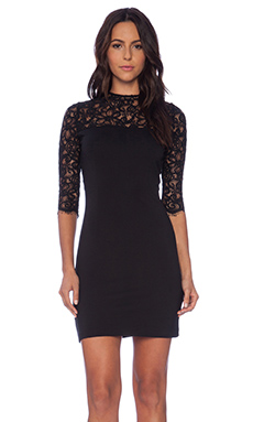BB Dakota Chevis Dress in Black
