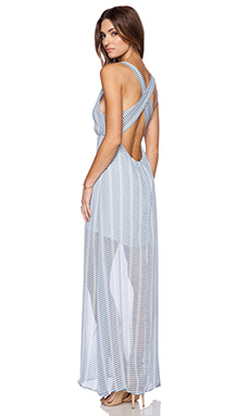 BB Dakota Faxon Maxi Dress in Overcast Blue