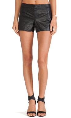 BB Dakota Thekla Leather Shorts in Black