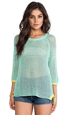 Jack by BB Dakota Jeslyn Pullover Sweater in Lucite Green & Limeade