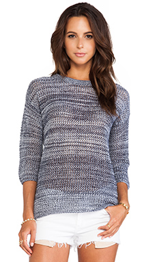 Dakota Collective by BB Dakota Realta Pullover in Cloud& Dirty White