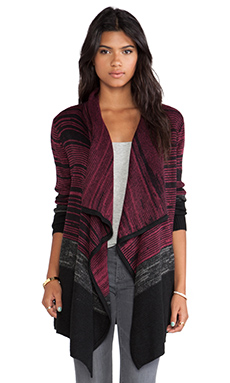 Jack by BB Dakota Edward Drapey Cardigan in Beet Red