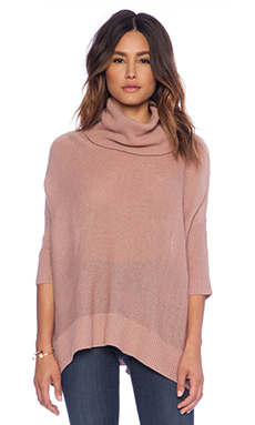 BB Dakota Collective Starla Cowl Neck Sweater in Dusty Rose