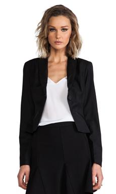 Jack by BB Dakota Heiner PU Suiting Twill Blazer in Black