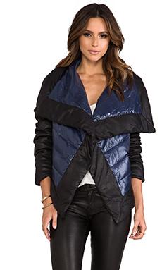 BB Dakota Cecille Puffer Jacket w/ Faux Suede Trim in Caspian Blue