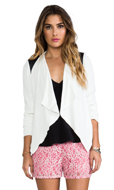 BB Dakota Margo Moto Jacket in Dirty White & Black