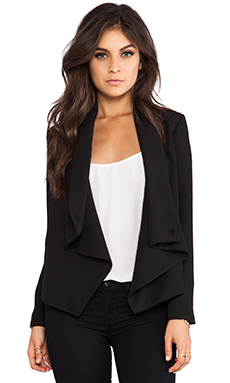 BB Dakota Bertilla Drapey Jacket in Black