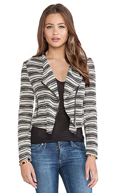 Dakota Collective by BB Dakota Adalynn Asymmetrical Jacket in Oatmeal & Black