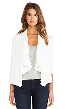 BB Dakota Bertilla Drapey Jacket in Dirty White