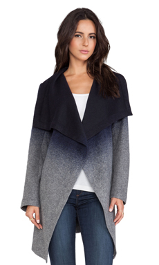 BB Dakota Deva Ombre Coat in Blue