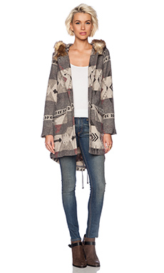 BB Dakota Negeen Patterned Coat in Grey