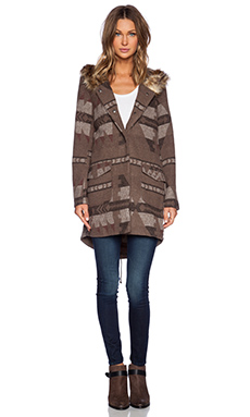 BB Dakota Negeen Patterned Coat in Tobacco