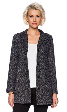 Jack by BB Dakota Dillane Tweed Coat in Black  White