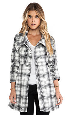 Jack by BB Dakota Kinsey Plaid Coat in Black White