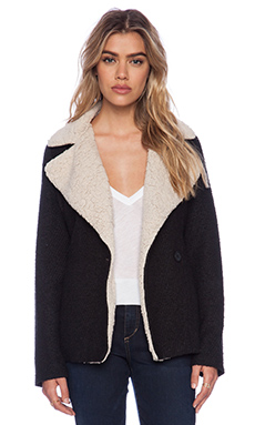Jack by BB Dakota Smith Jacket with Faux Fur Lining in Black