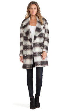 BB Dakota Tommy Plaid Coat in Multi