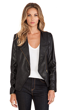 Jack by BB Dakota Odette Faux Leather Jacket in Black
