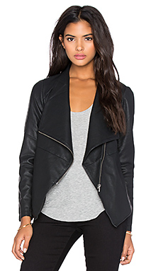 BB Dakota Lillian Drapey Front Jacket in Black