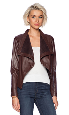 BB Dakota Lillian Drapey Front Jacket in Coffee