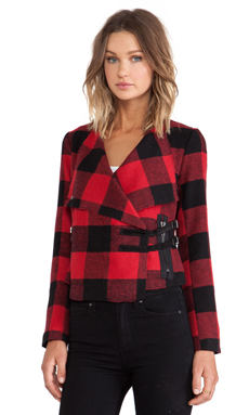 BB Dakota Rosanna Plaid Jacket in Black