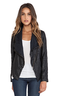 BB Dakota Elif Pu Jacket in Black