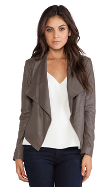 BB Dakota Tyne Leather Jacket in Tobacco