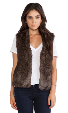 Jack by BB Dakota Briseida Faux Fur Vest in Brown & Black