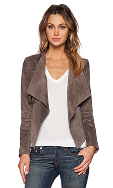 BB Dakota Ondelette Fringe Jacket in Brindle