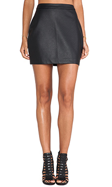 Jack by BB Dakota Fairley Faux Leather Skirt in Black