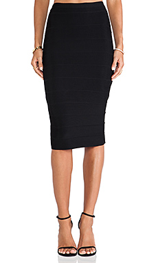 BB Dakota Senet High Waisted Bandage Skirt in Black
