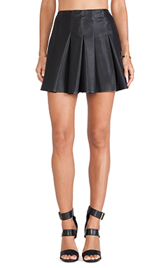 BB Dakota Nynette Faux Leather Skirt in Black