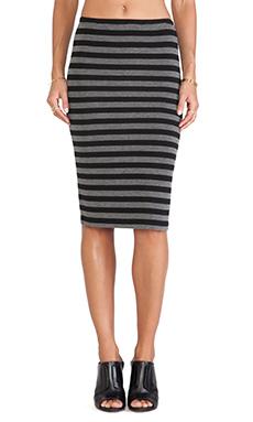 BB Dakota Raquelyn Stripe Skirt in Black
