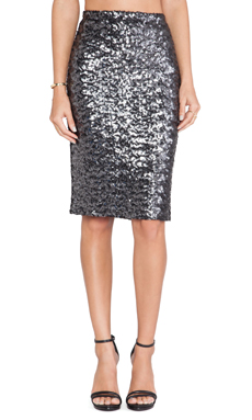 BB Dakota Jomene Sequin Skirt in Black