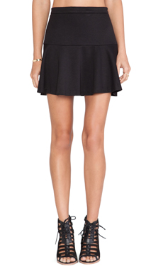 Jack by BB Dakota Birch Skater Skirt in Black