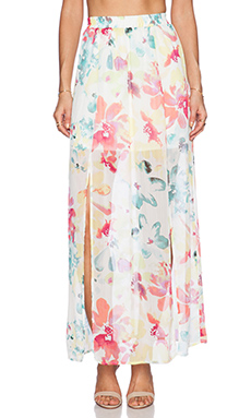 Jack by BB Dakota Vasco Maxi Skirt in Ivory