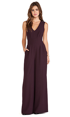 BB Dakota Ethan Woven Jumpsuit in Aubergine