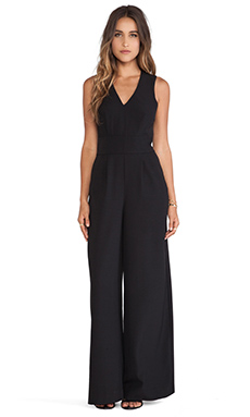 BB Dakota Ethan Woven Jumpsuit in Black