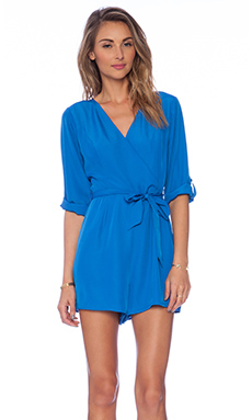 Jack by BB Dakota Luther Romper in Victoria Blue